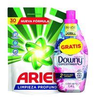 Pack-detergente-liquido-ARIEL-3-L---suavizante-DOWNY-14-L