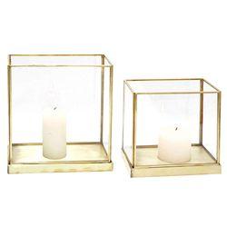 Fanal-metal-vidrio-base-espejo-h17-cm