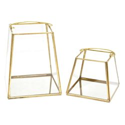 Fanal-metal-vidrio-base-espejo-h19-cm