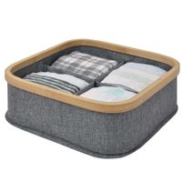Organizador-con-bamboo-4-compartimentos-gris-29x29x9-cm