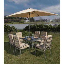 Juego-de-jardin-6-sillas---mesa---sombrilla