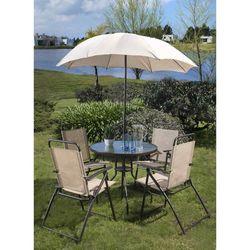 Set-de-jardin-mesa-4-sillas-acero---sombrilla